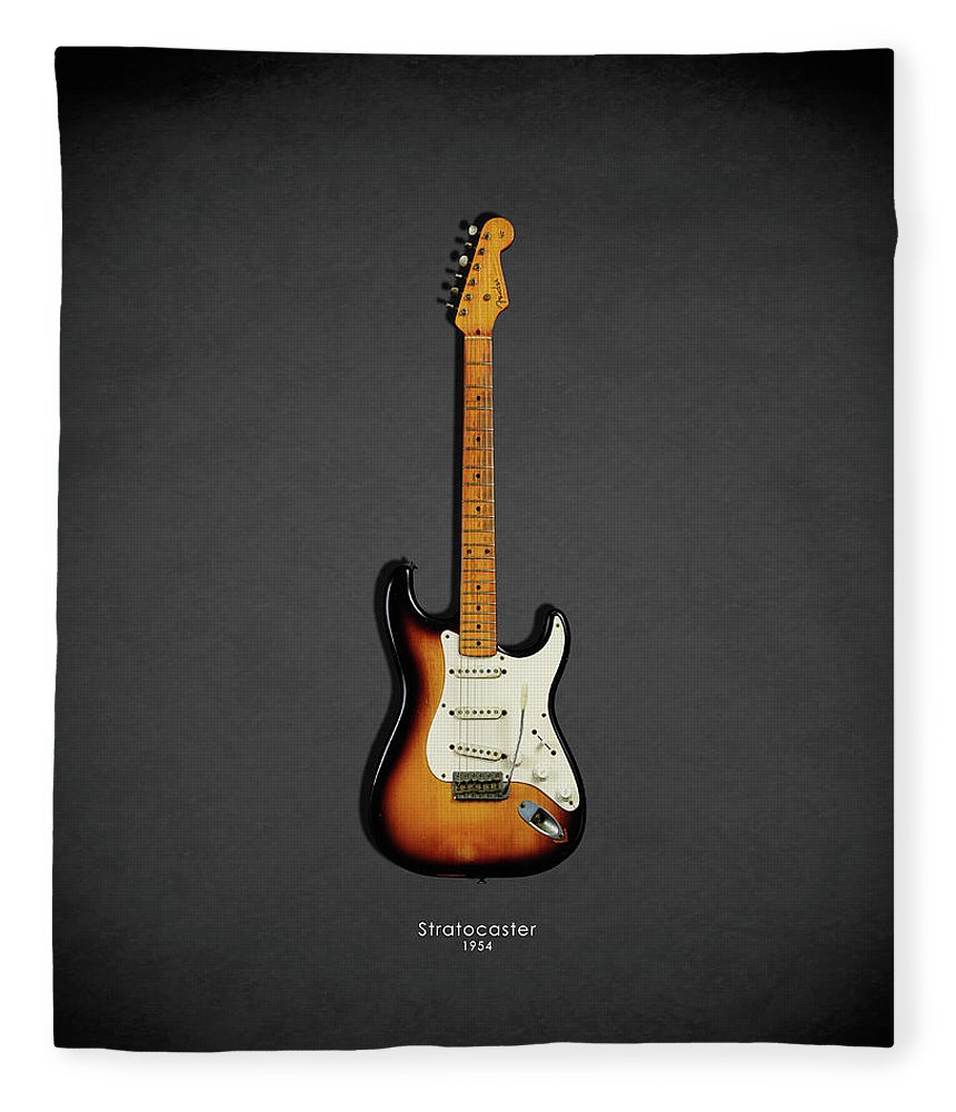 Fender Stratocaster Fleece Blanket featuring the photograph Fender Stratocaster 54 by Mark Rogan