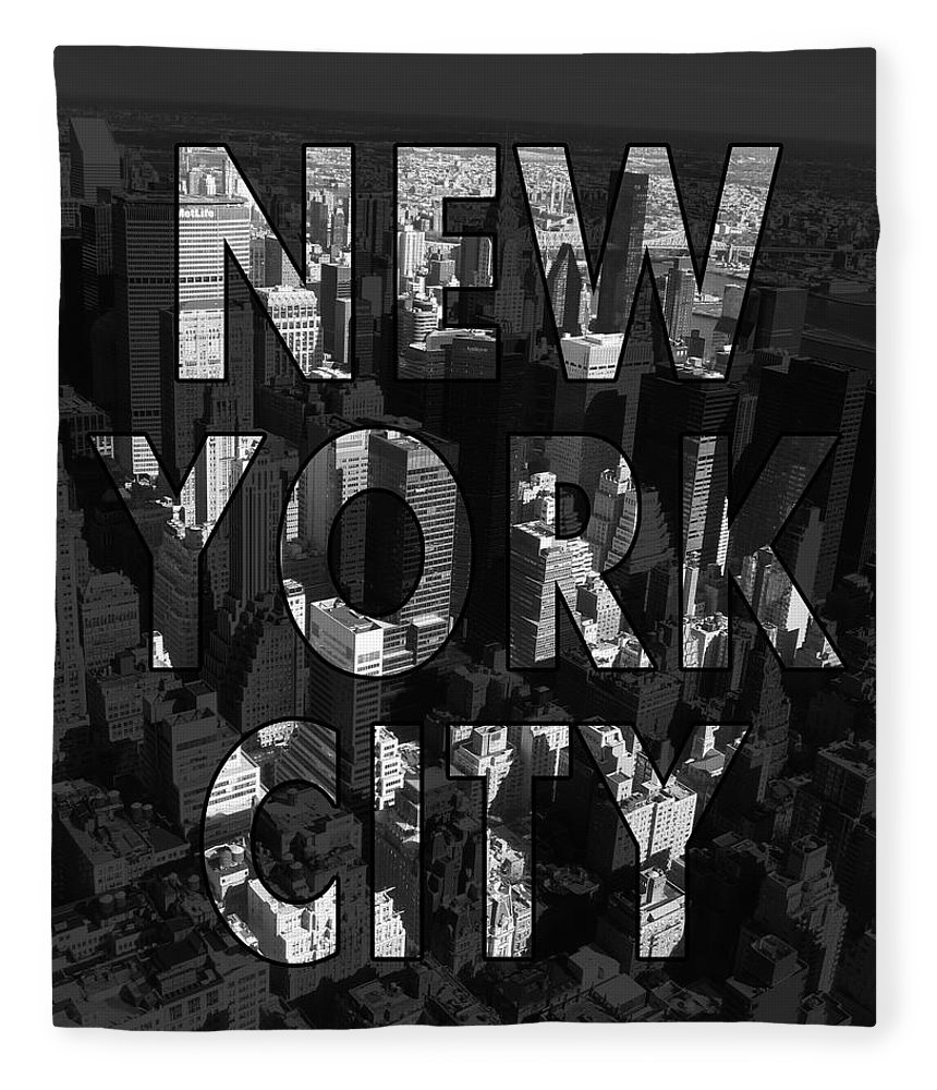 New York Fleece Blanket featuring the photograph New York City - Black by Nicklas Gustafsson