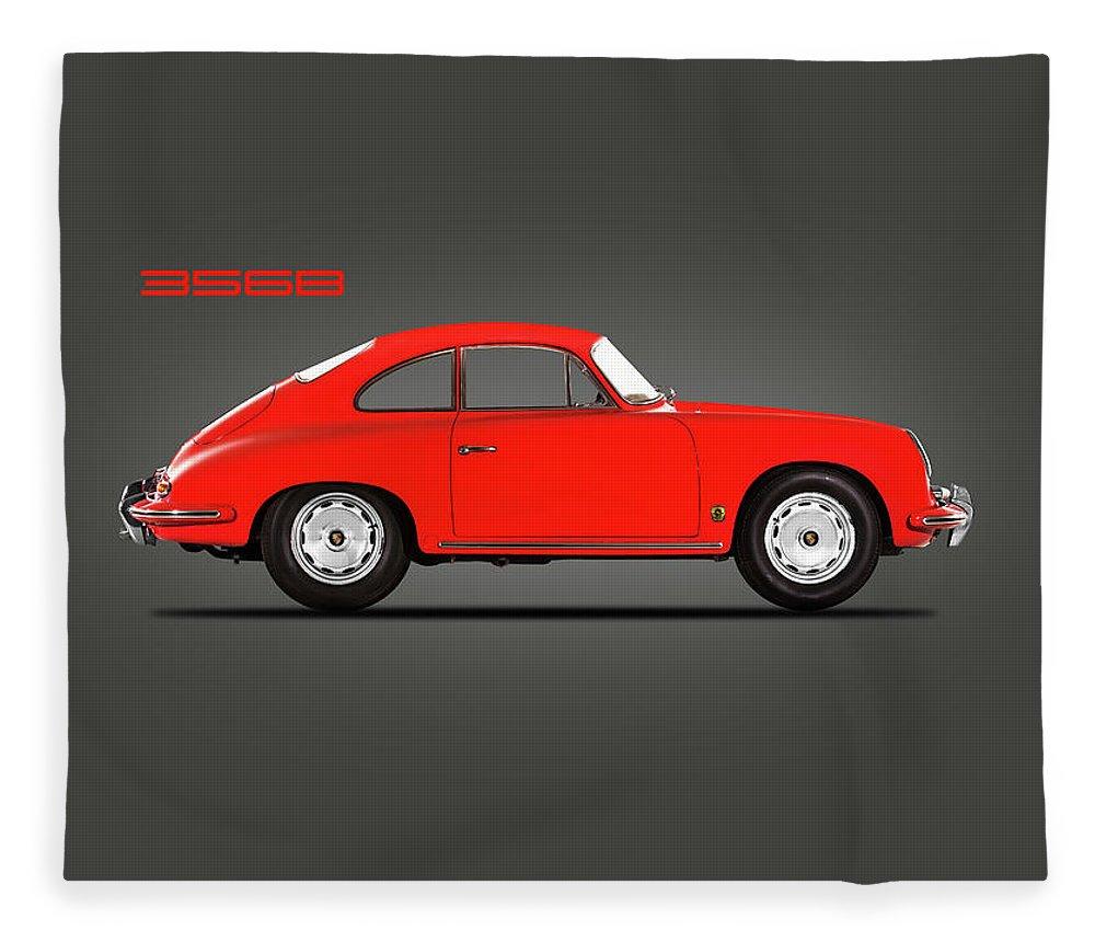 Porsche 356 Fleece Blanket featuring the photograph Porsche 356 B 1961 by Mark Rogan