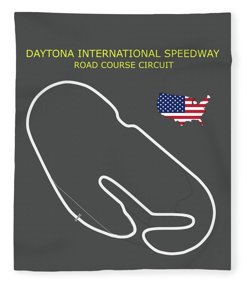 Daytona International Speedway Fleece Blanket featuring the photograph The Daytona Road Course by Mark Rogan