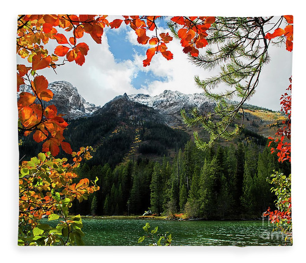 String Lake Fleece Blanket featuring the photograph Autumn At String Lake by Wildlife Fine Art