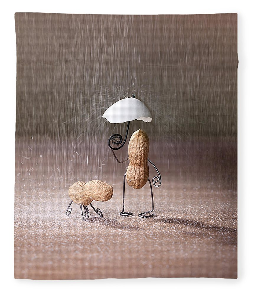 Peanut Fleece Blanket featuring the photograph Bad Weather 02 by Nailia Schwarz