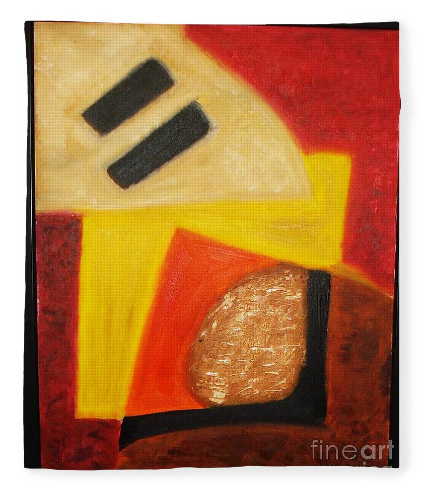 Oil Painting Fleece Blanket featuring the painting Balance by Yael VanGruber