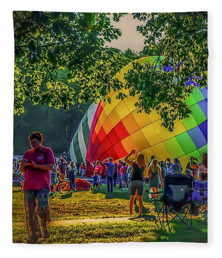 Fleece Blanket featuring the photograph Balloon Fest Spirit by Kendall McKernon