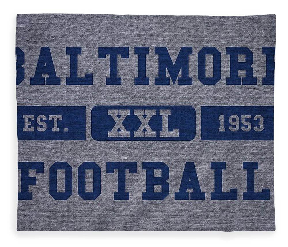 Colts Fleece Blanket featuring the photograph Baltimore Colts Retro Shirt by Joe Hamilton