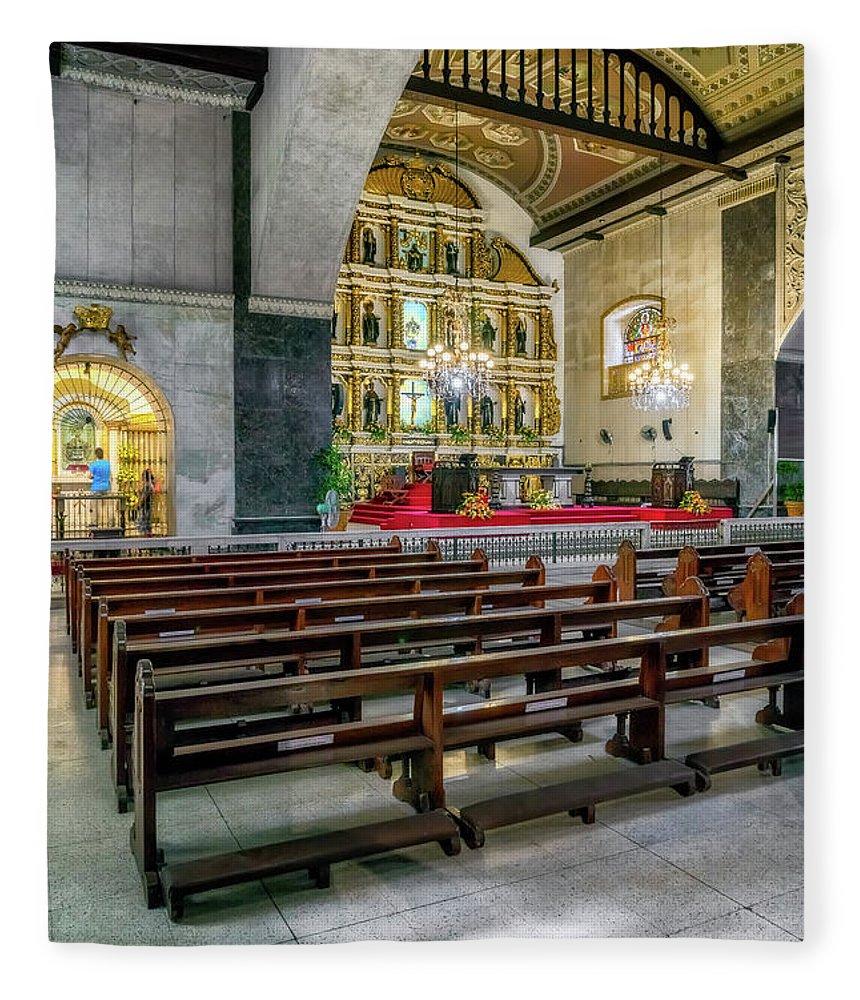 Catholic Fleece Blanket featuring the photograph Basilica Minore Del Santo Nino by Adrian Evans