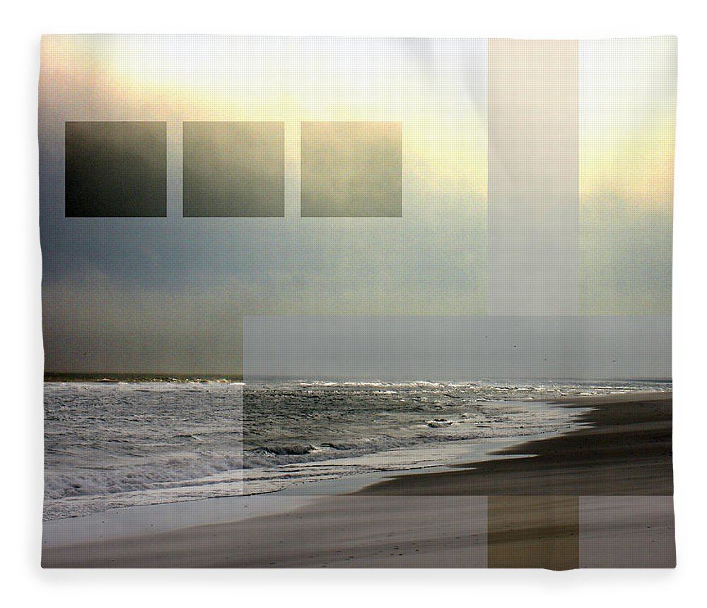 Beach Fleece Blanket featuring the photograph Beach Collage 2 by Steve Karol