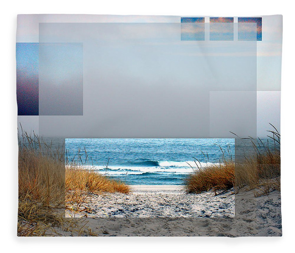 Beach Fleece Blanket featuring the photograph Beach Collage by Steve Karol