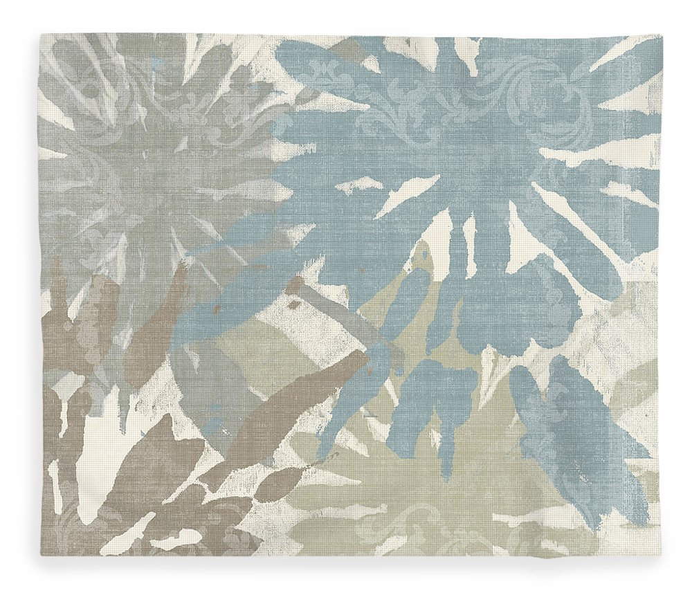 Ikat Fleece Blanket featuring the painting Beach Curry II by Mindy Sommers