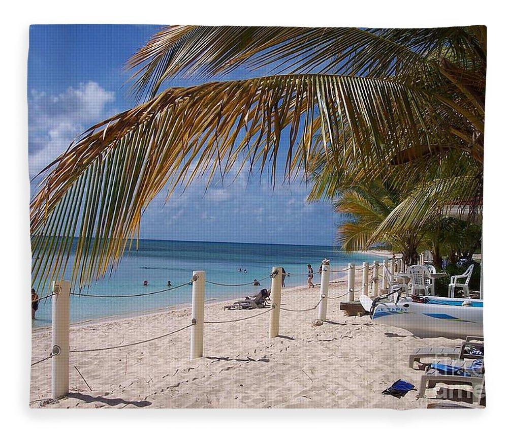 Beach Fleece Blanket featuring the photograph Beach Grand Turk by Debbi Granruth