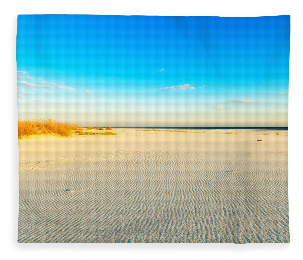 Florida Fleece Blanket featuring the photograph Beautiful Beach by Raul Rodriguez