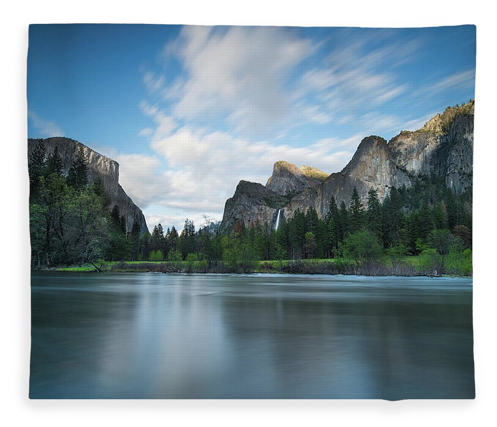 Yosemite Fleece Blanket featuring the photograph Beautiful Yosemite by Larry Marshall