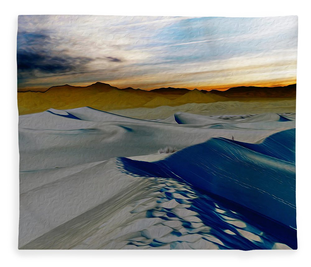 Death Valley Fleece Blanket featuring the photograph Been Through The Desert by Joe Schofield