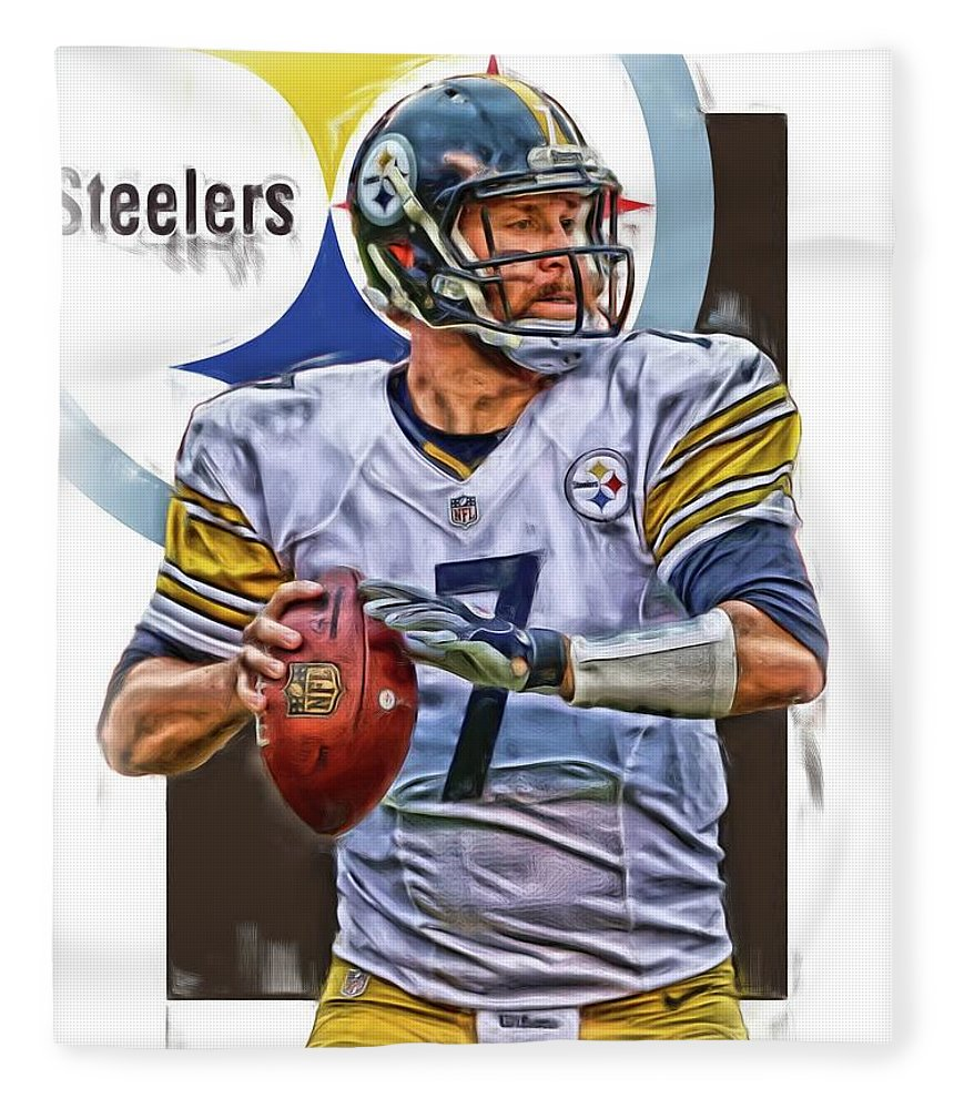 Ben Roethlisberger Pittsburgh Steelers Oil Art Fleece Blanket For Sale By Joe Hamilton
