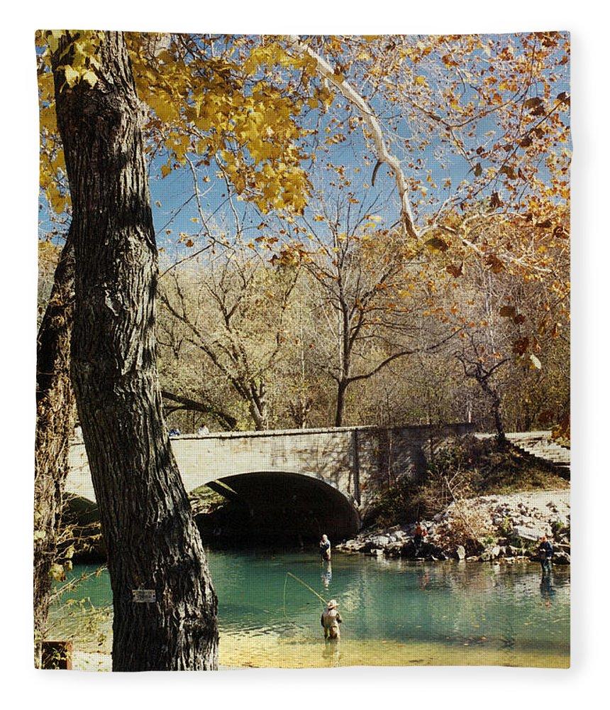 Landscape Fleece Blanket featuring the photograph Bennet Springs by Steve Karol