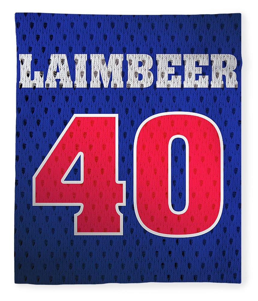 65b6e0ec50cd Bill Laimbeer Fleece Blanket featuring the mixed media Bill Laimbeer  Detroit Pistons Number 40 Retro Vintage