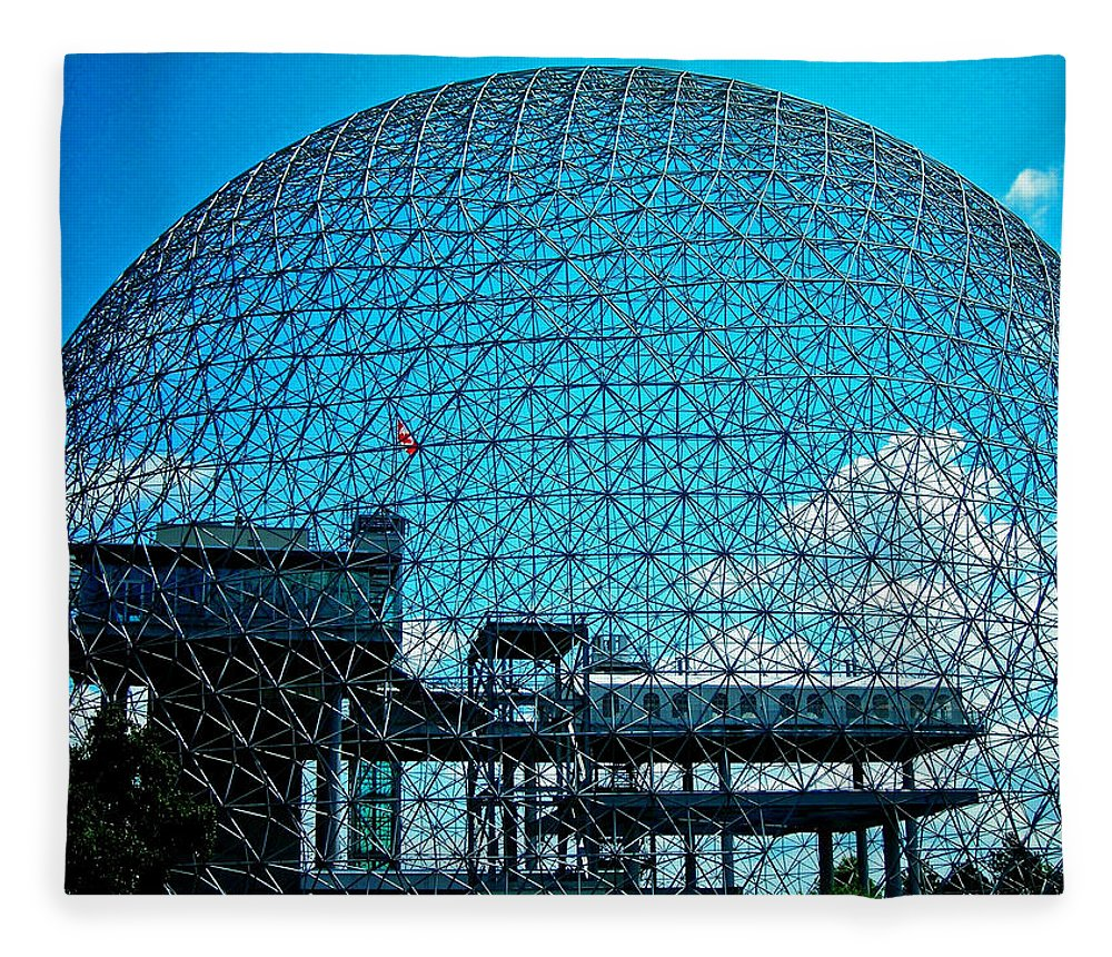 North America Fleece Blanket featuring the photograph Biosphere Montreal by Juergen Weiss
