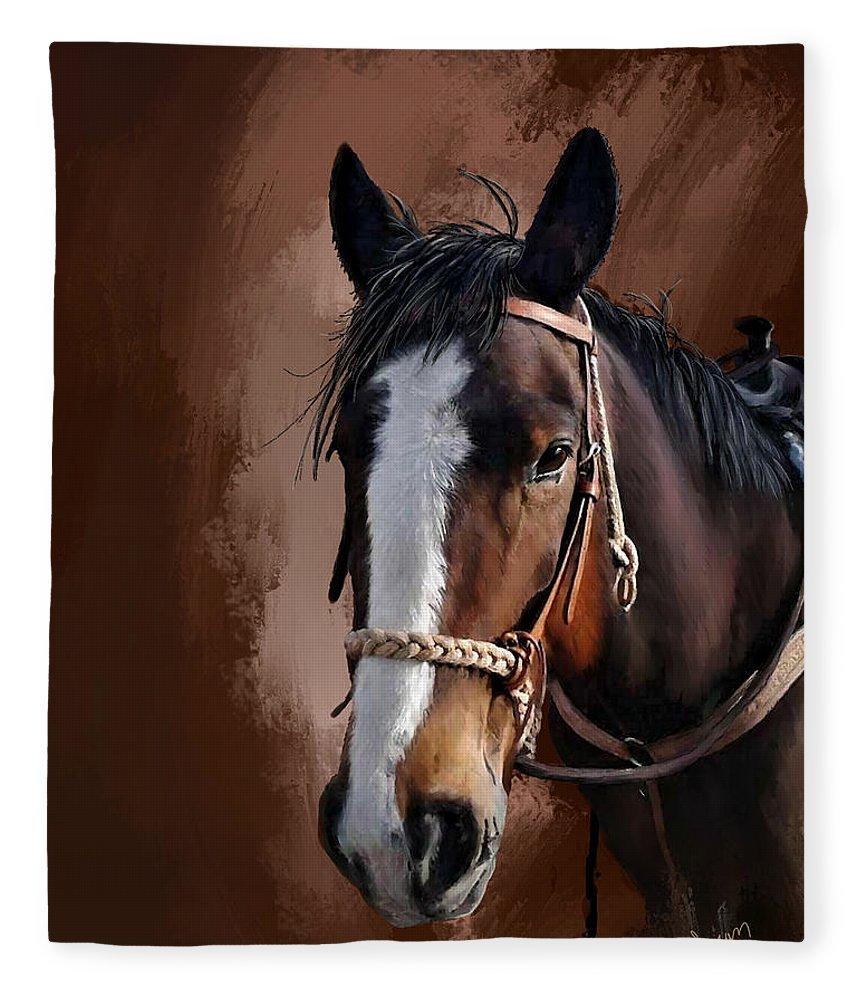 Corel Painter 18 Fleece Blanket featuring the digital art Blaze by Susan Kinney