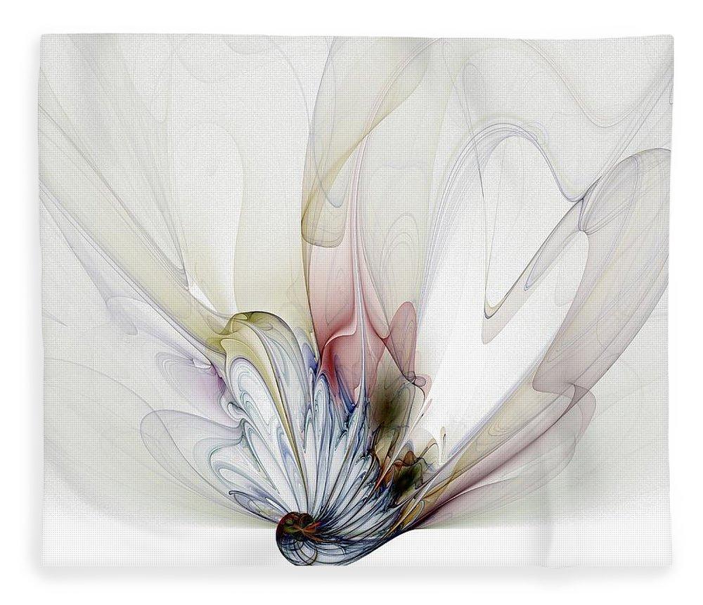 Digital Art Fleece Blanket featuring the digital art Blow Away by Amanda Moore