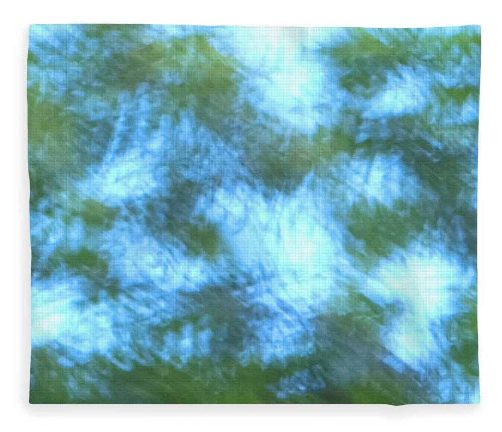 Natanson Fleece Blanket featuring the mixed media Blowing In The Wind by Steven Natanson