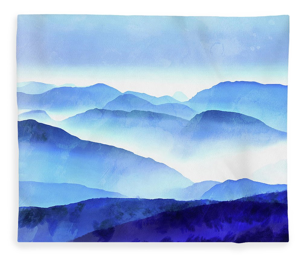 Painting Fleece Blanket featuring the photograph Blue Ridge Mountains by Edward Fielding