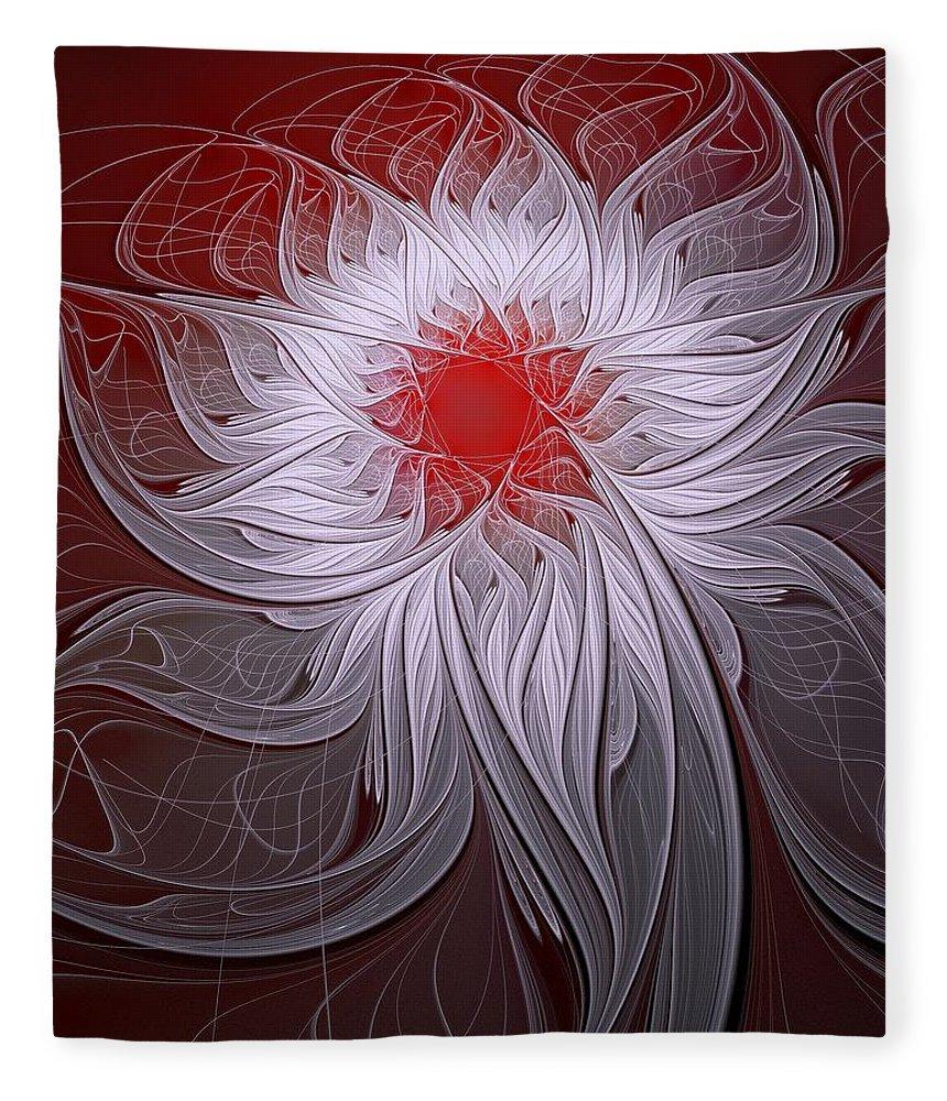 Digital Art Fleece Blanket featuring the digital art Blush by Amanda Moore