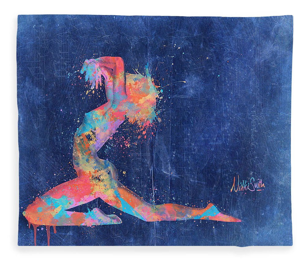 Bodyscape Fleece Blanket featuring the digital art Bodyscape In D Minor - Music Of The Body by Nikki Marie Smith