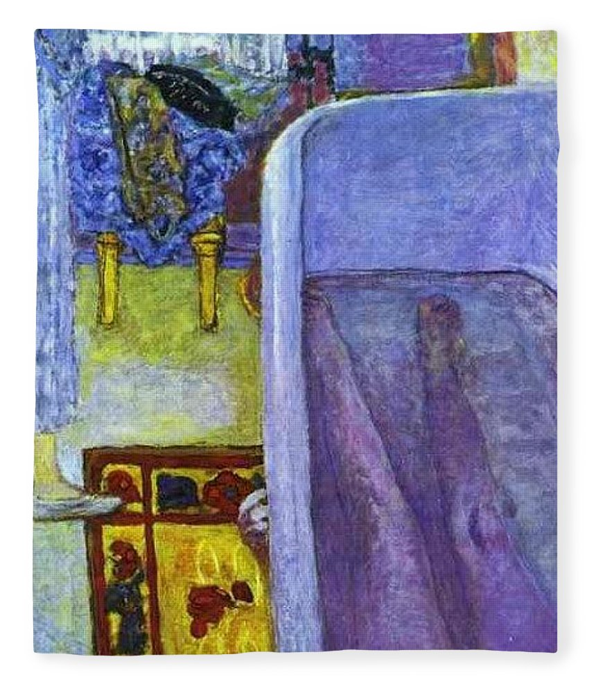 Vestment Fleece Blanket featuring the digital art bonnard44 Pierre Bonnard by Eloisa Mannion