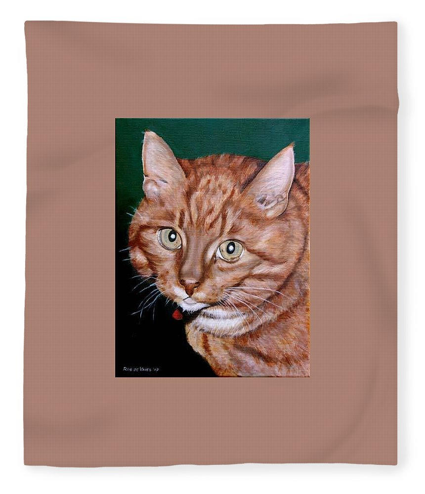 Pets Fleece Blanket featuring the painting Boris by Rob De Vries