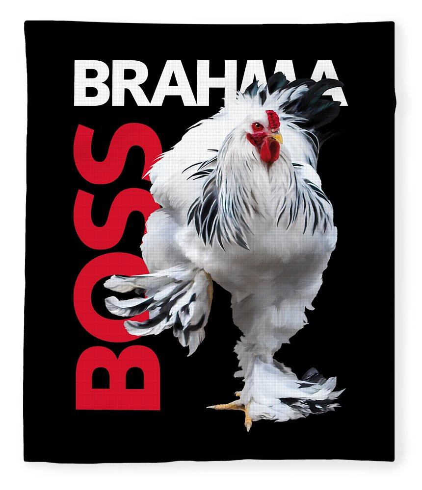 Brahma Fleece Blanket featuring the digital art Brahma Boss T-shirt Print by Sigrid Van Dort