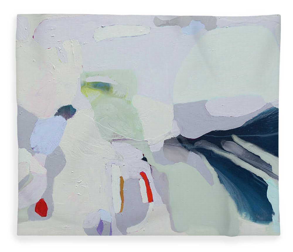 Abstract Fleece Blanket featuring the painting Breathe by Claire Desjardins