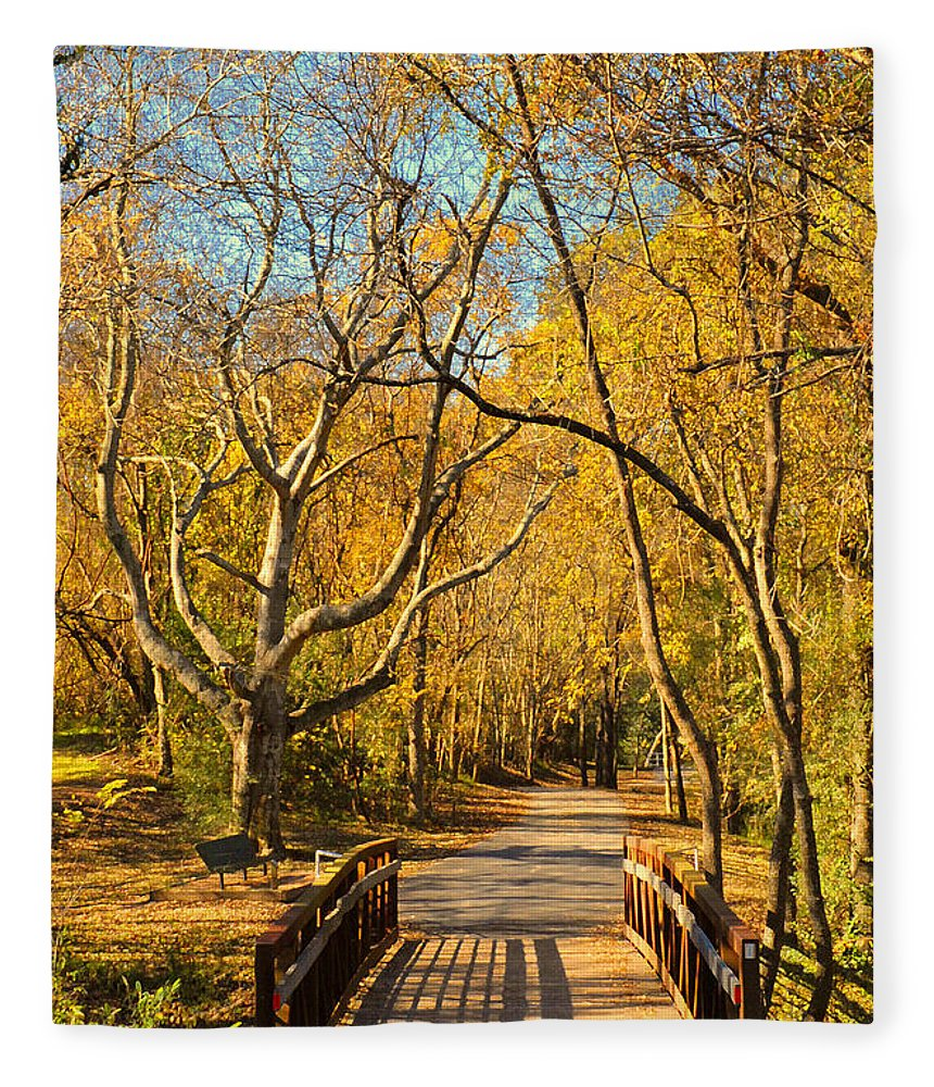 Trail Fleece Blanket featuring the photograph Bridge Of Sighs by Stephen Anderson