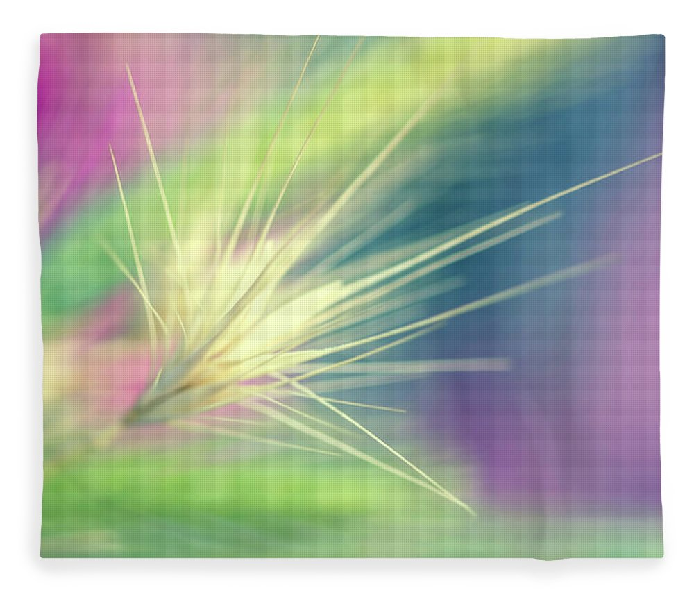 Bright Colors Fleece Blanket featuring the digital art Bright Weed by Terry Davis