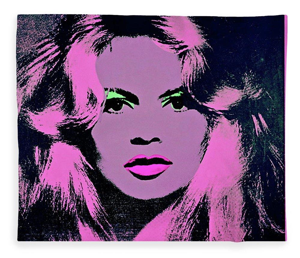 Brigitte Bardot, Andy Warhol Fleece Blanket for Sale by Andy Warhol