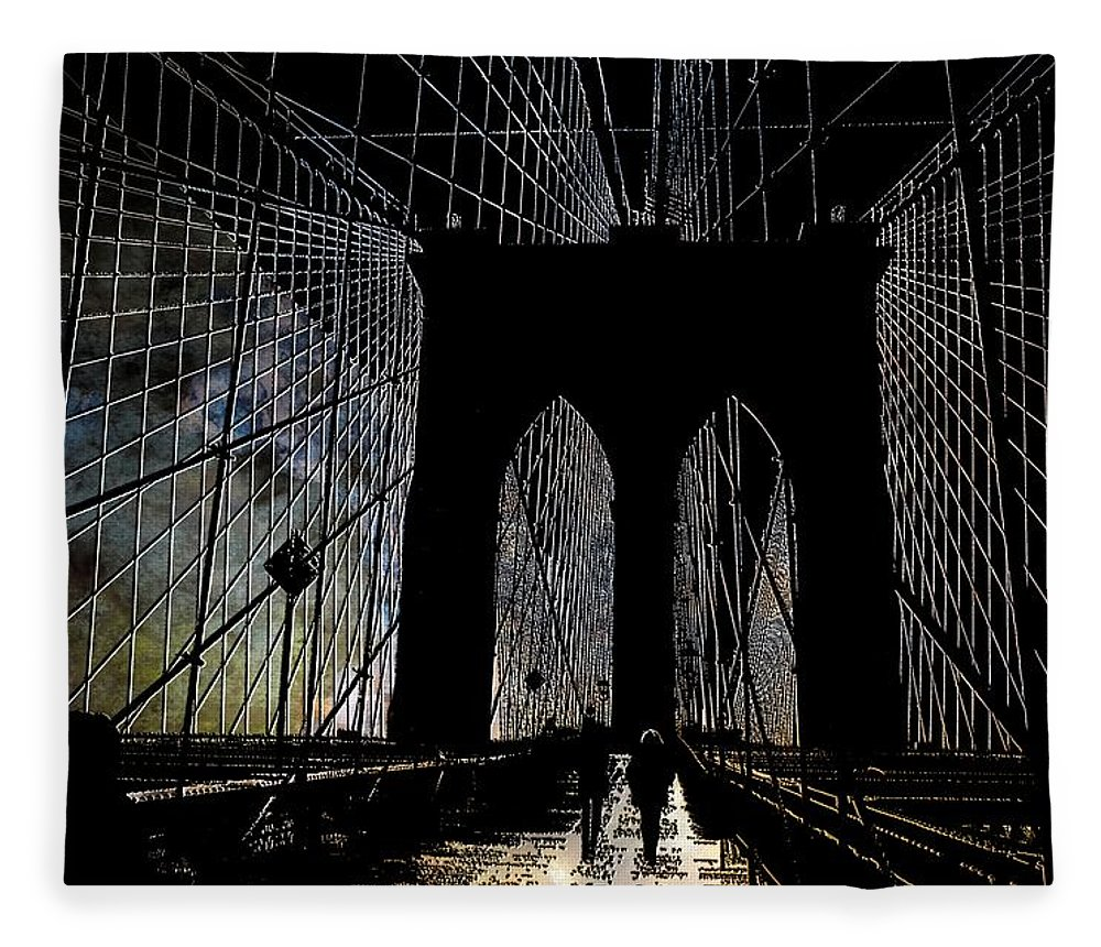 Brooklyn Fleece Blanket featuring the photograph Brooklyn Gateway by Jeff Watts