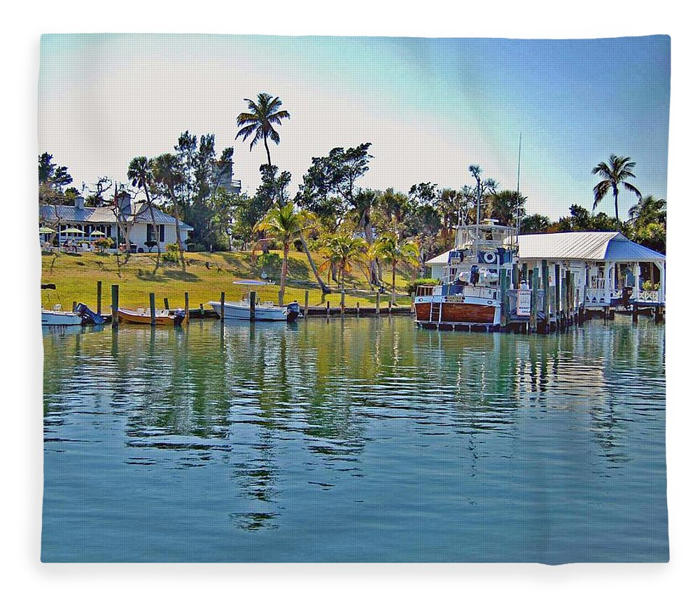 Water Fleece Blanket featuring the photograph Cabbage Key by Michael Thomas