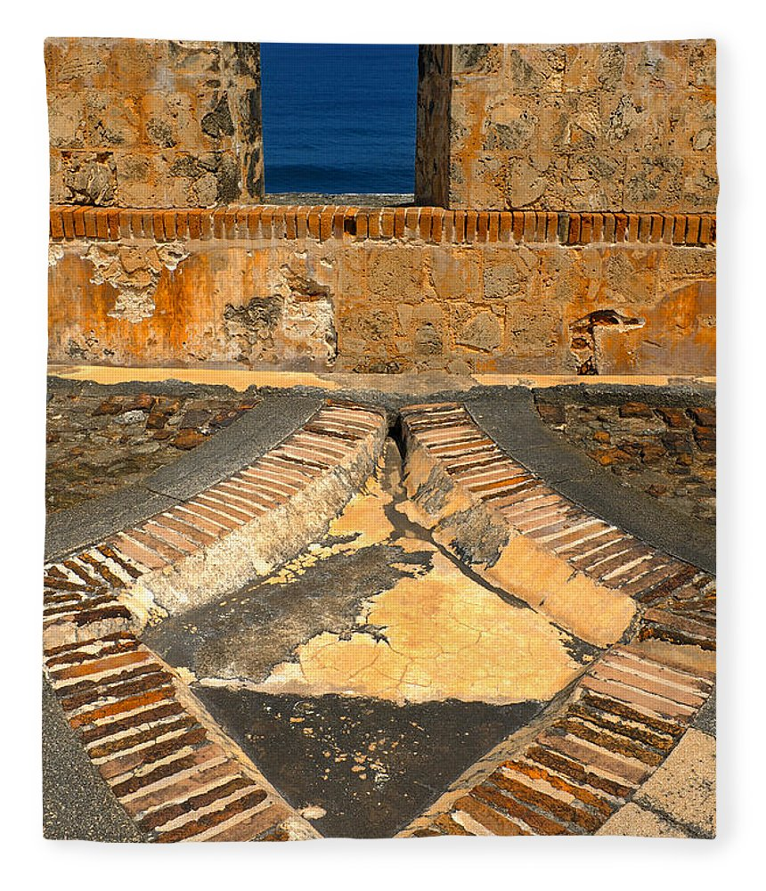 Old Fort Fleece Blanket featuring the photograph Cannon Portal by Stephen Anderson