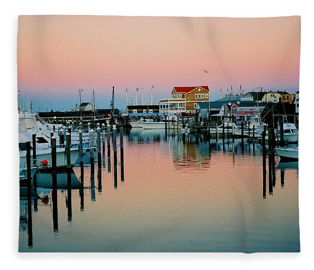 Cape May Fleece Blanket featuring the photograph Cape May after Glow by Steve Karol