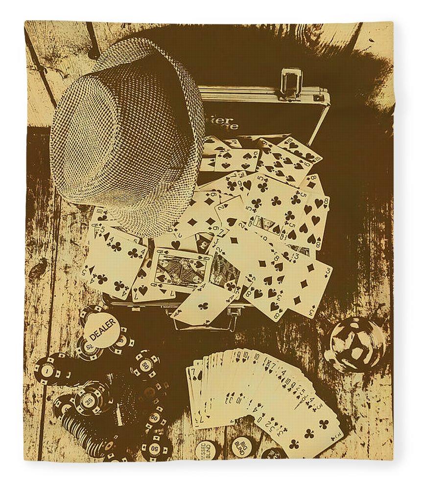 Card Games And Vintage Bets Fleece Blanket for Sale by Jorgo ...