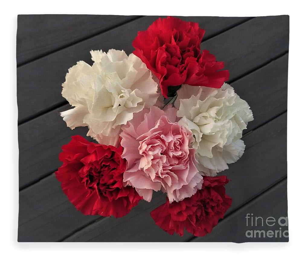 Carnation Fleece Blanket featuring the photograph Carnations by Scenic Sights By Tara