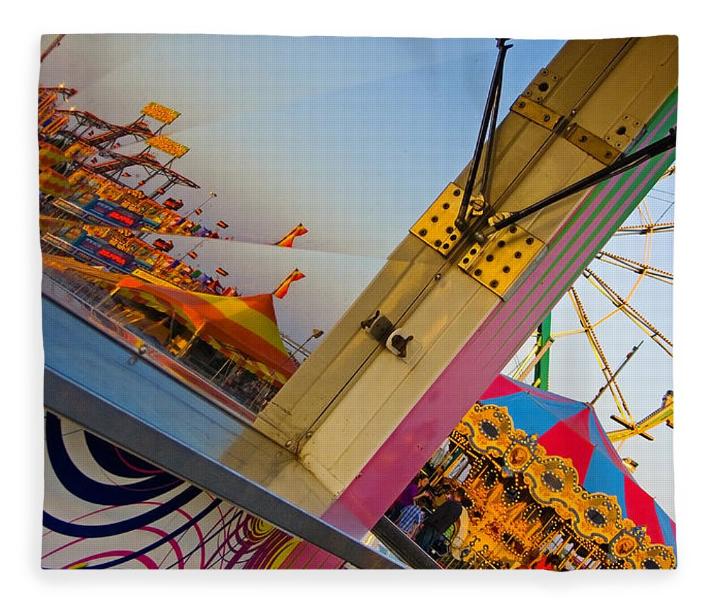 Carnival Fleece Blanket featuring the photograph Carnival 1 by Skip Hunt