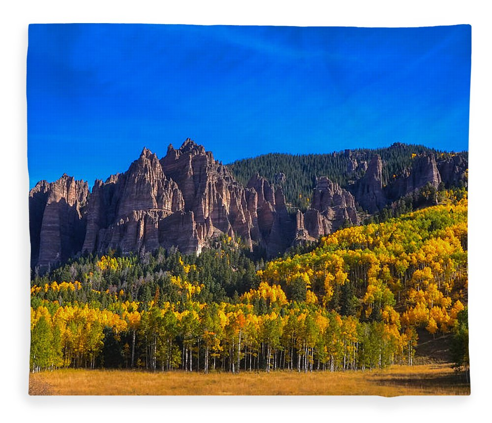 Rock Formations Fleece Blanket featuring the photograph Castles by David Ross