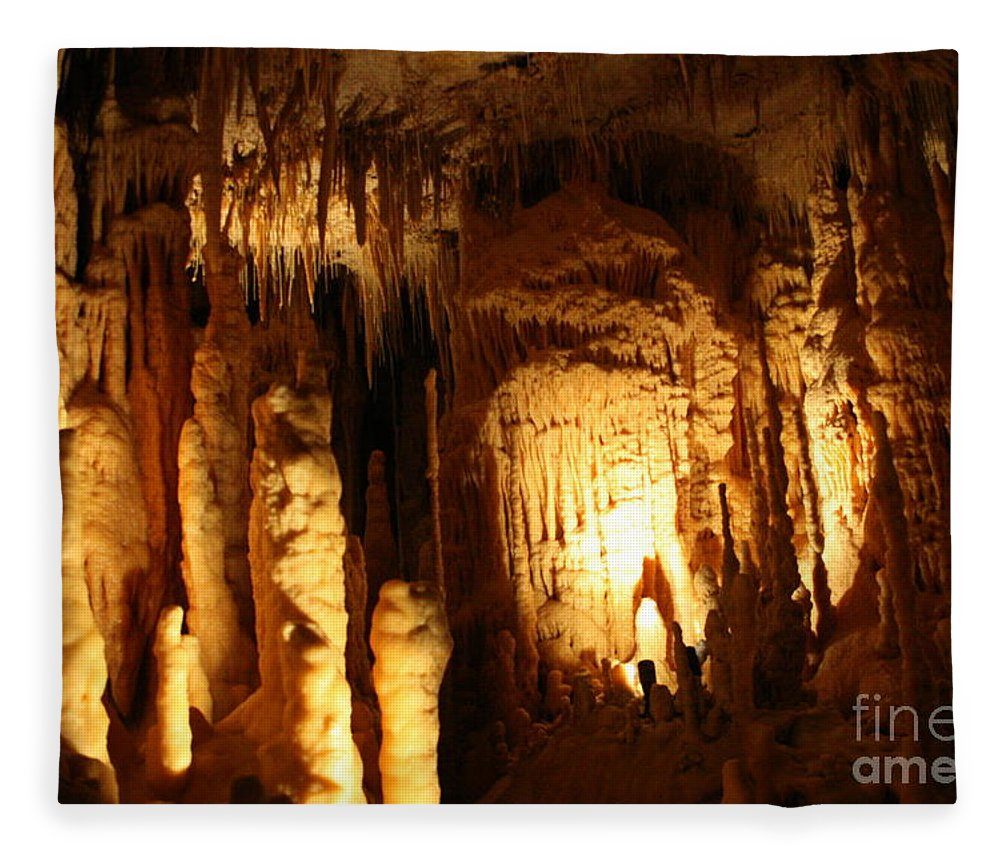 Natural Fleece Blanket featuring the photograph Cave 8 by Lynn Michelle