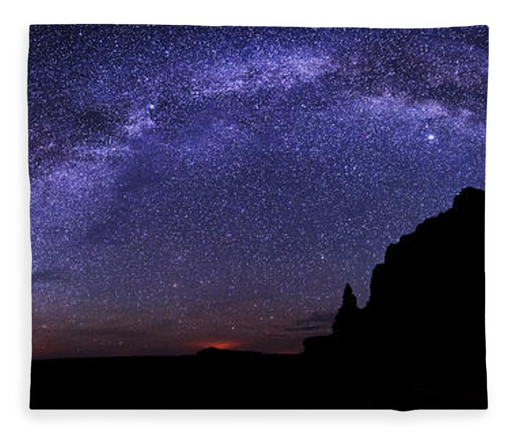Celestial Arch Fleece Blanket featuring the photograph Celestial Arch by Chad Dutson