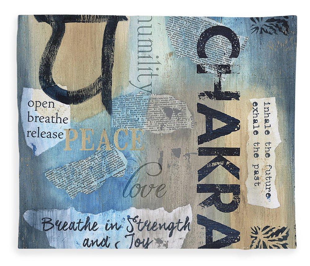 Chakra Fleece Blanket featuring the painting Chakra by Debbie DeWitt