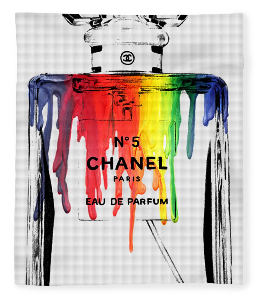 Bottle Fleece Blanket featuring the painting Chanel by Mark Ashkenazi