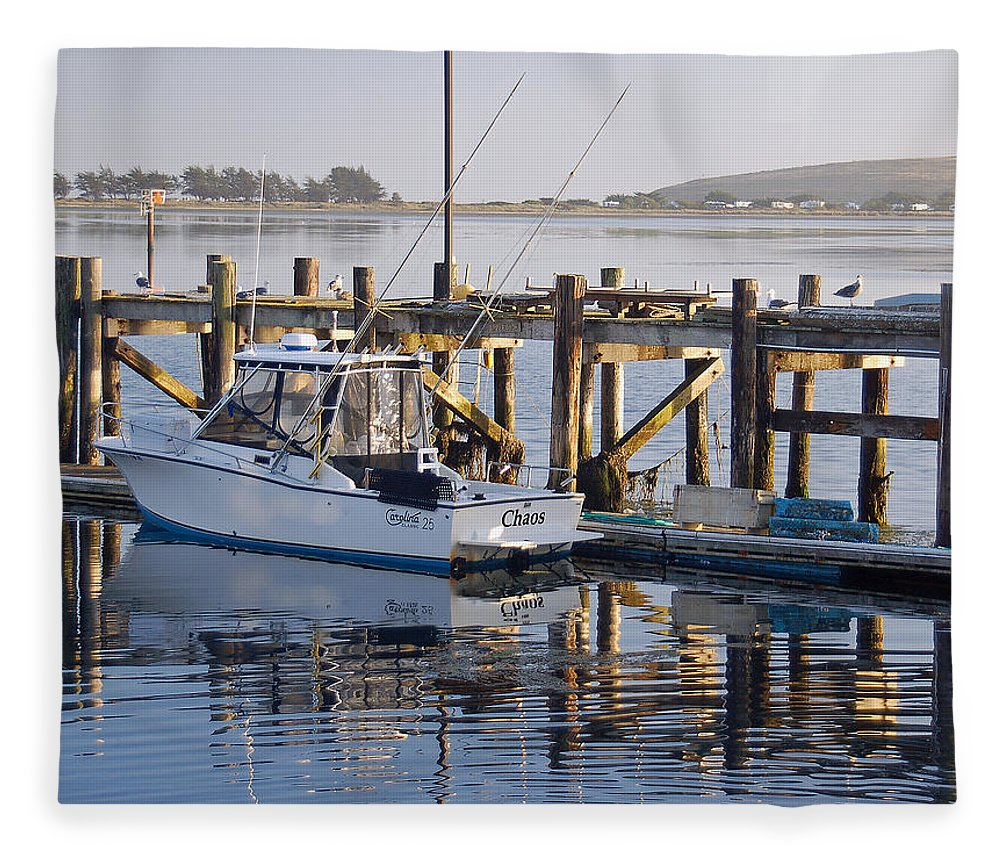 Boat Fleece Blanket featuring the photograph Chaos near Bodega Bay by Suzanne Gaff