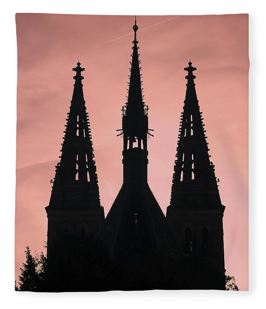 Church Fleece Blanket featuring the photograph Chapter Church Of St Peter And Paul by Michal Boubin
