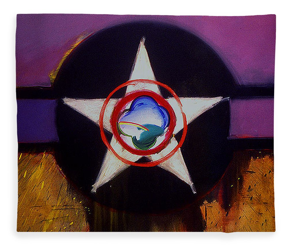 Air Force Insignia Fleece Blanket featuring the painting Cheyenne Autumn by Charles Stuart