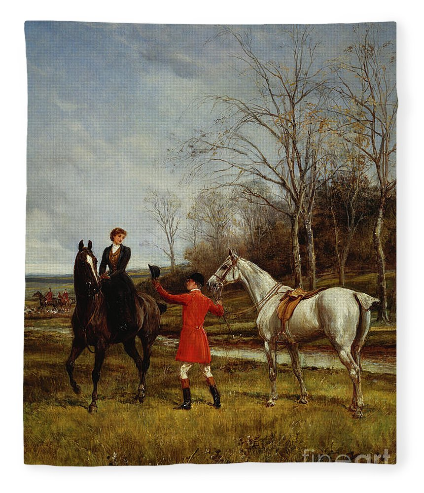 Chivalry Fleece Blanket featuring the painting Chivalry by Heywood Hardy